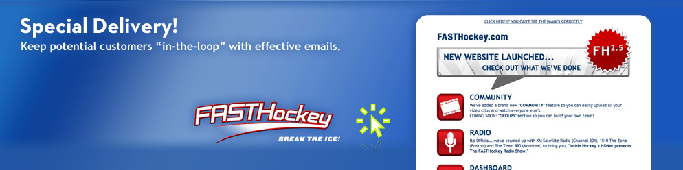Featured Awethentik Project :: FASTHockey Email Campaign
